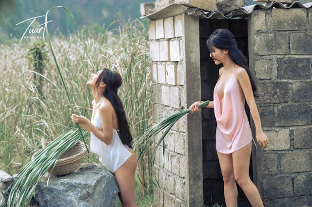 Hot girls Poor countryside with 2 nuked girls 6