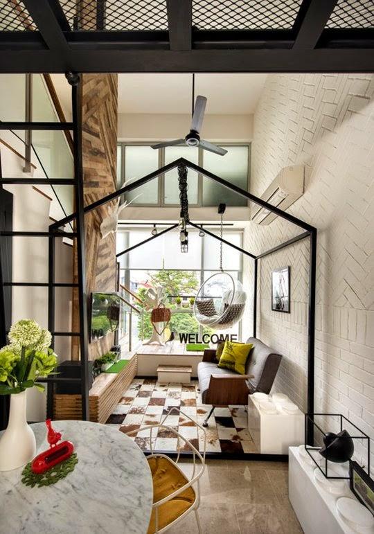 desain interior ruang tamu kecil sederhana namun menawan