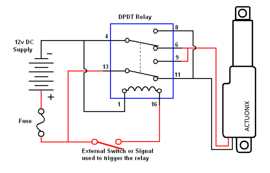 linear actuator relay