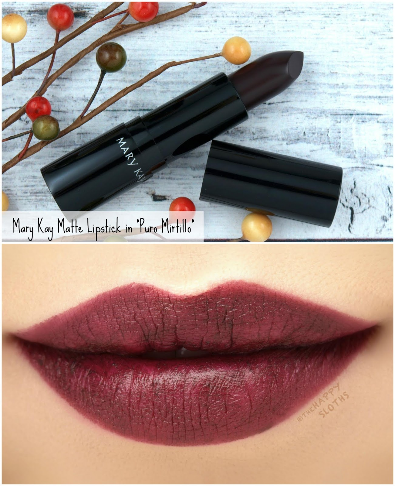 "Mary Kay | Fall 2018 Matte Lipstick in ""Puro Mirtillo"": Review and Swatches"