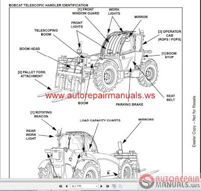 Free Auto Repair Manual : Bobcat Telescopic Handler TL470