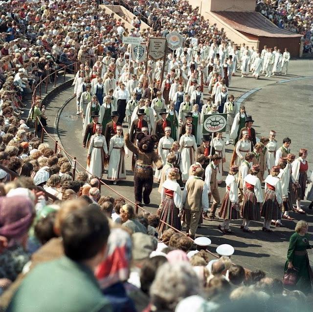 1980-е (?) годы. Рига. Праздник песни (Источник фото: F64)