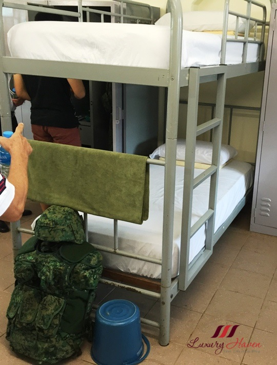 bmt tekong camp recruit bunks inspection
