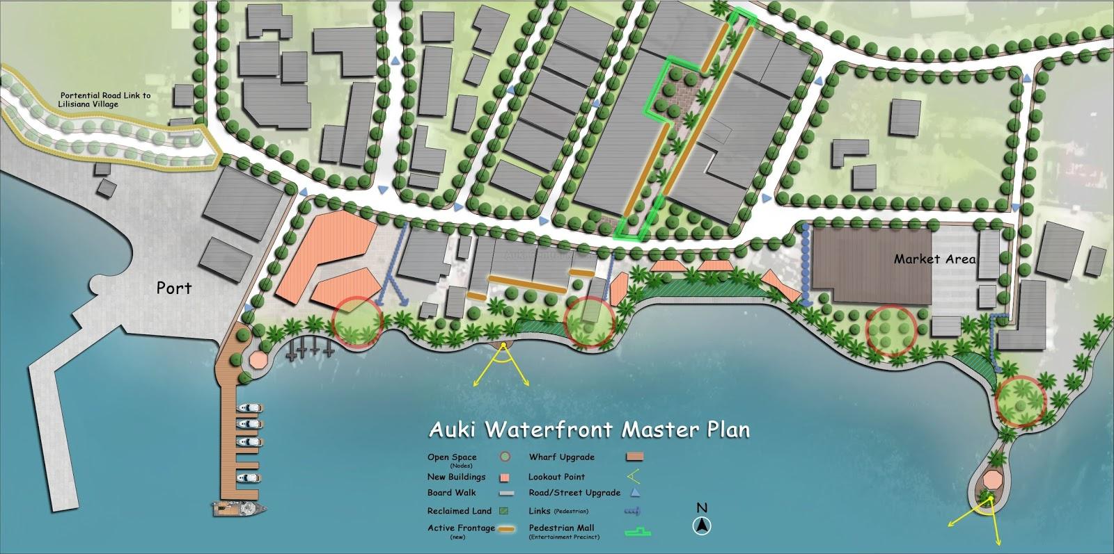 figure 8 auki waterfront master plan source auki local planning scheme and structure plan