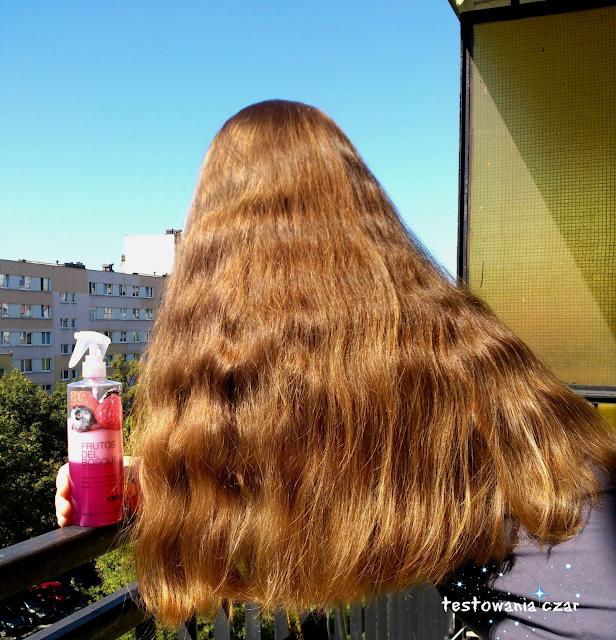 odżywka w sprayu, do włosów, długie włosy, odżywka, owoce, malina, borówka, jeżyna, kosmetyki do włosów, testowania czar