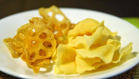 Crispy Lotus Root and Arrowhead Chips