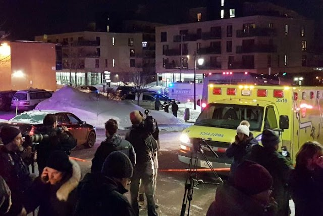 #WaronTerror : At least six people are dead after gunmen opened fire in a mosque in Quebec City