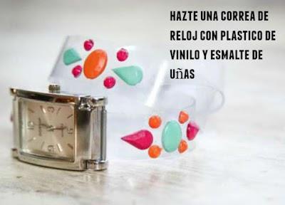 Correa de reloj con plastico de vinilo tutorial