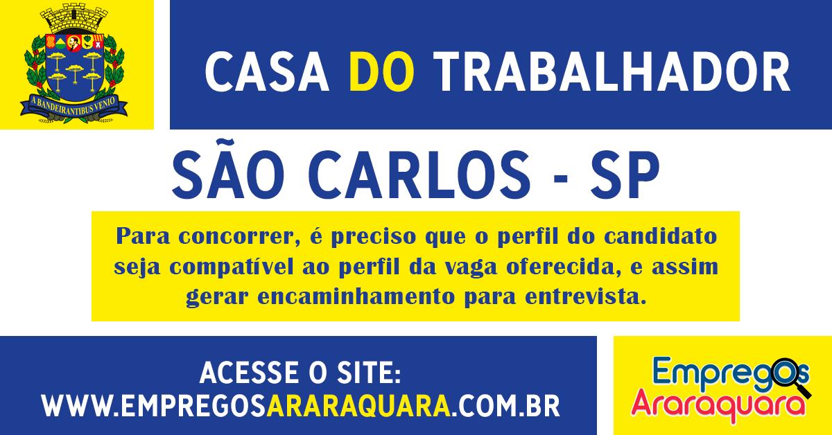 CASA DO TRABALHADOR DE SÃO CARLOS