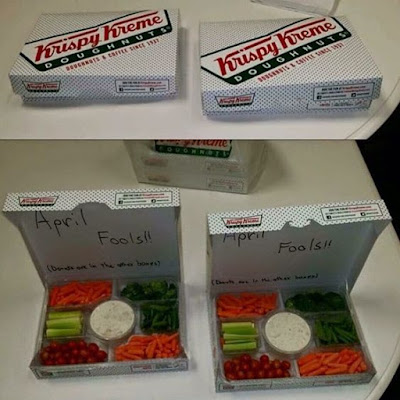 doughnut prank, april fool's day, april fool's day vegetable, april fool's day veggie tray, april fool's day easy prank, safe april fool's day prank, april fools joke