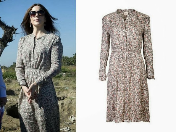 Crown Princess Mary of Denmark wore Heartmade Print Midi Dress. Style of Crown Princess Mary