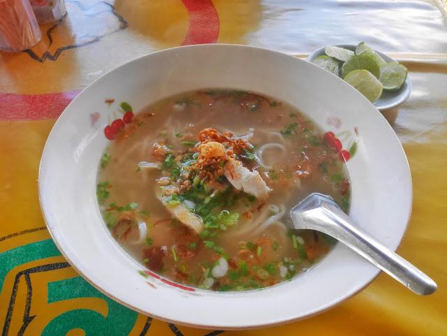 Vietnamese noodles in Vang Vieng Laos