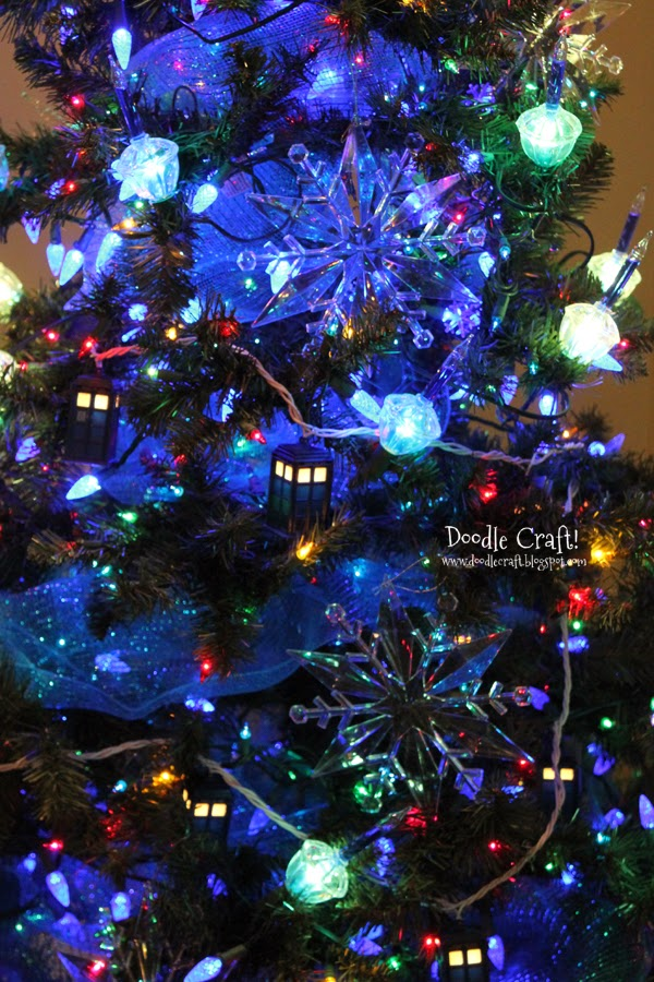 Doodlecraft Doctor Who Inspired Christmas Tree