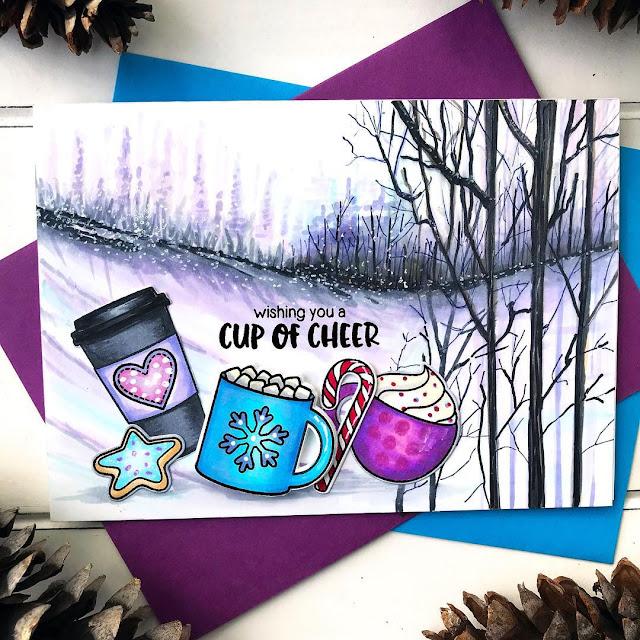 Sunny Studio Stamps: Mug Hugs Customer Card by Bobbi Lemanski