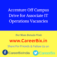 Accenture Off Campus Drive for Associate IT Operations Vacancies