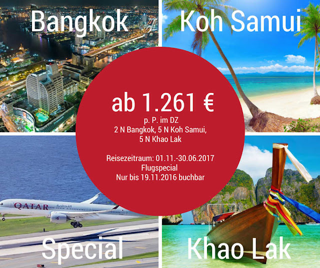 Inselhopping Thailand mit Stopover Bangkok