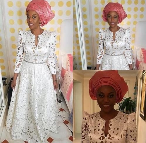 Leila Lopez, former Miss Universe and wife of Nigerian NFL player, Osi Umenyiora posted photos of the wife of President of Angola, Ana Paula dos Santo wearing Nigerian gele. Suits her!