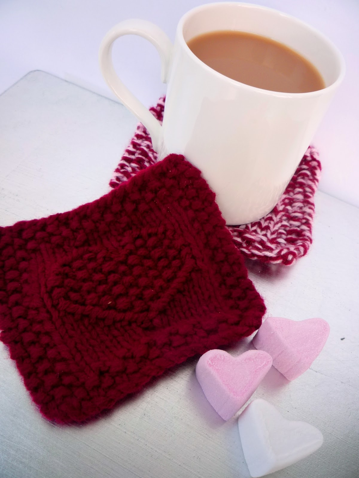 the Creations of Crazy Dazy: heart coaster pattern