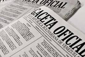 Consulte SUMARIO de Gaceta Oficial N° 41.296 de fecha 8 de diciembre de 2017