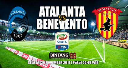 Prediksi Atalanta vs Benevento 28 November 2017
