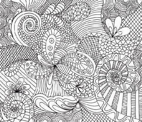 Jellyfish Zentangle coloring page | Free Printable Coloring Pages ... | 415x484