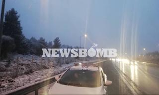 Πυκνή χιονόπτωση σε Μαλακάσα και Ωρωπό – Νιφάδες στην Κηφισιά - Εικόνες&Βίντεο