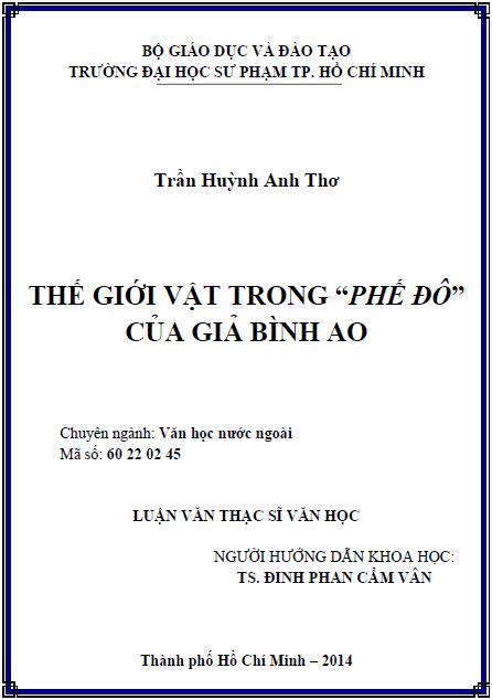 """Thế giới vật trong """"Phế đô"""" của Giả Bình Ao"""