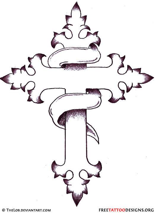 Design Tattoo: Christian Cross Tattoo Designs