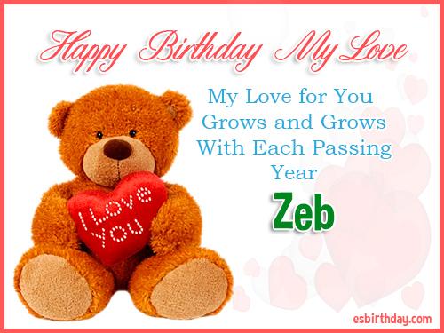 Zeb Happy Birthday My Love