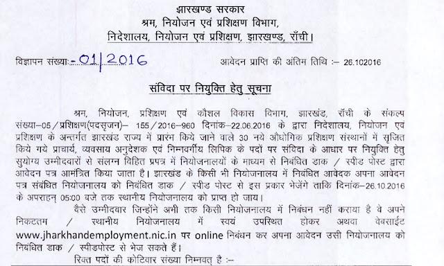 Jharkhand Labour Department  Recruitment