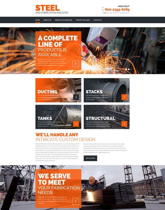 20 Best Industrial Website Templates 2016 - Designsmag.org