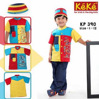 baju lebaran anak kecil laki laki