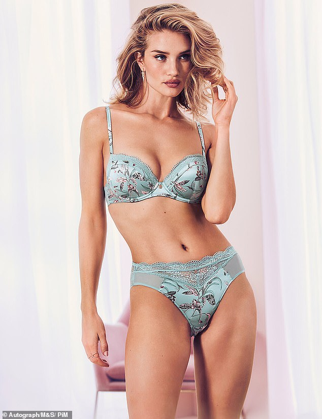 Rosie Huntington Whiteley - M&S Autograph Lingerie Campaign
