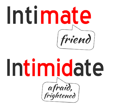 Intimate vs Intimidate, Get the meaning with mind tricks.