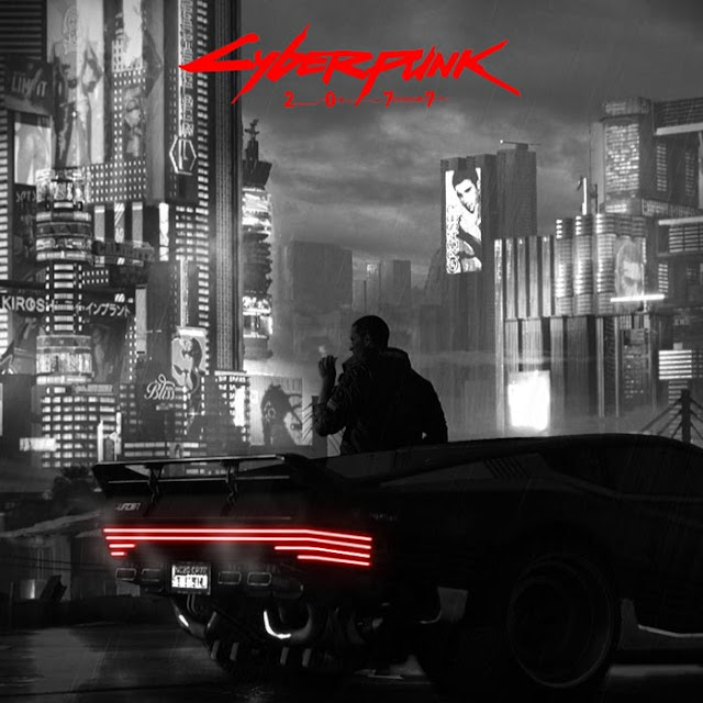 Noir Style Cyberpunk 2077 With Title Wallpaper Engine