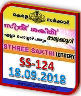 live kerala Sthree sakthi SS 124 result new numbers from keralalotteries.info, kerala lottery result 18.09.2018 STHREE SAKTHI SS-124, Kerala lottery result today, live keralalottery results, newly added numbers, kerala lottery results today live, 18 AUG 2018 Result, Sthree sakthi SS 124 lottery live result, kerala kerala lottery,  kl result, Sthree sakthi lottery SS-124 results 18-09-2018, yesterday lottery results, lotteries results Sunday 18 AUG 2018, Sthree sakthi lottery, keralalotteries,  kerala lottery, keralalotteryresult, kerala lottery result, kerala lottery result live, kerala lottery today, kerala lottery result today, kerala lottery results today,  today kerala lottery result, 18.09.2018,