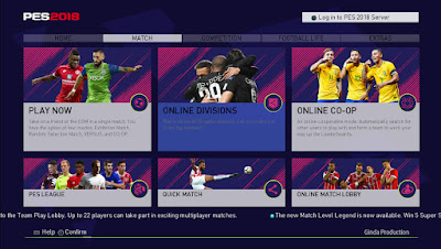 PES 2018 FIFA 18 Style Theme by Ginda01