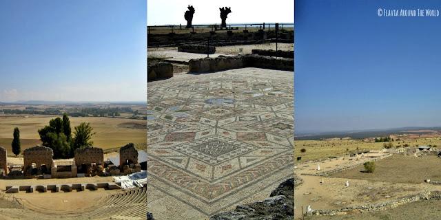 Teatro, mosaicos y foro romano de Clunia