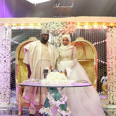 Abdullahi Abubakar, son of Bauchi State Governor and Khadija Harazimi wedding pictures