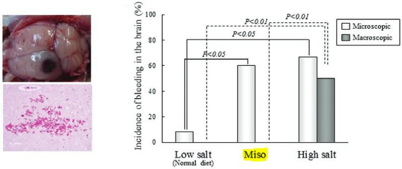 図:味噌の塩分とミクロの出血