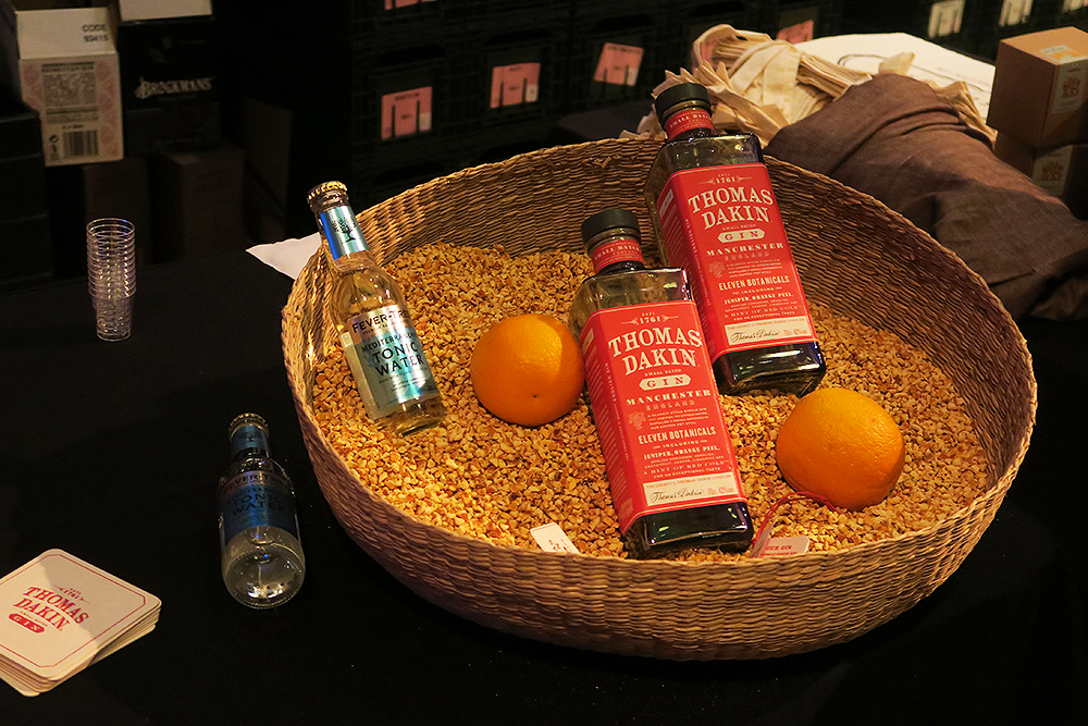 Thomas Dakin gin table at the Gin Festival Leeds 2016