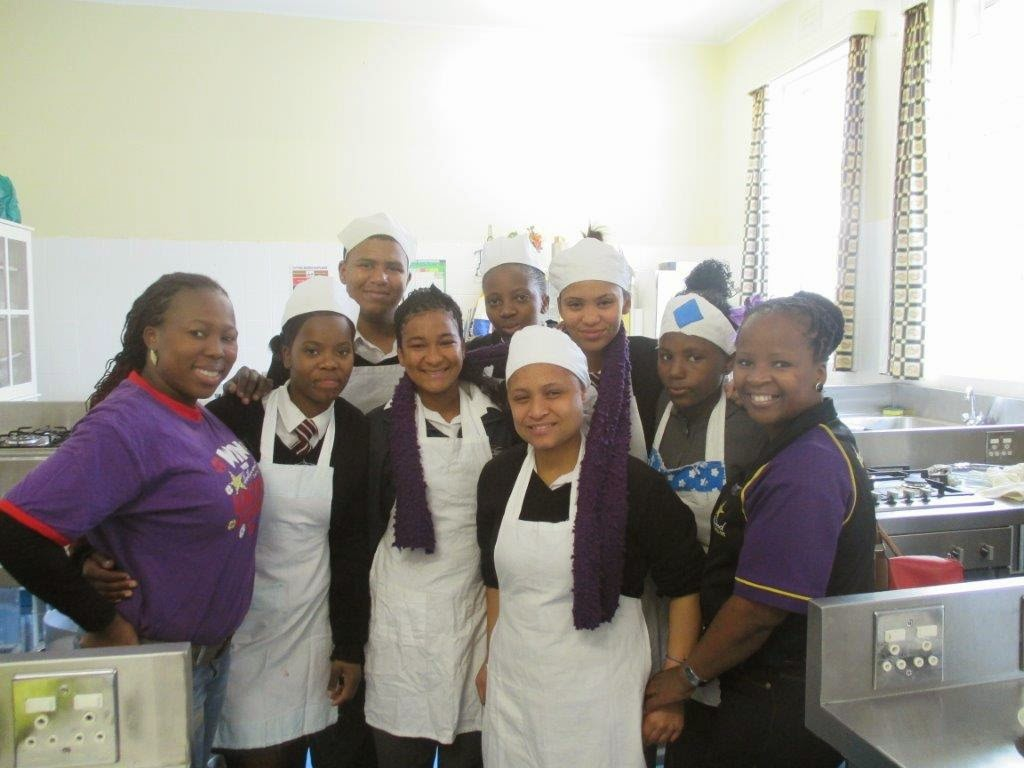 Hollywoodbets with the girls from Dominican School for the Deaf in Wynberg
