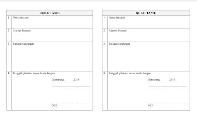 Format Buku Umum dan Buku Khusus PAUD SD SMP SMA SMK