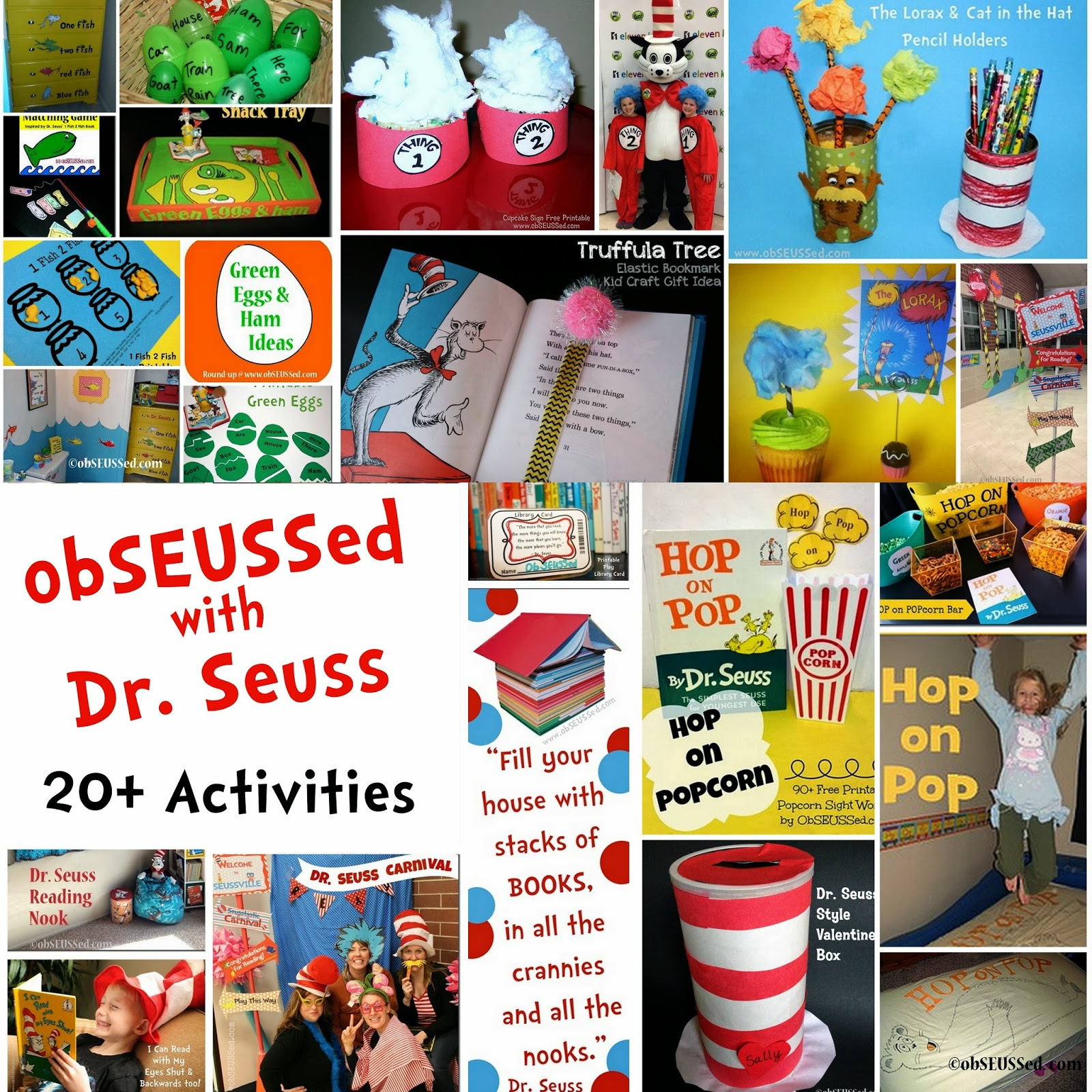 Obseussed Dr Seuss Crafts Activities And Party Ideas By