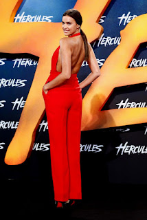 Irina Shayk Long Red Dress 2