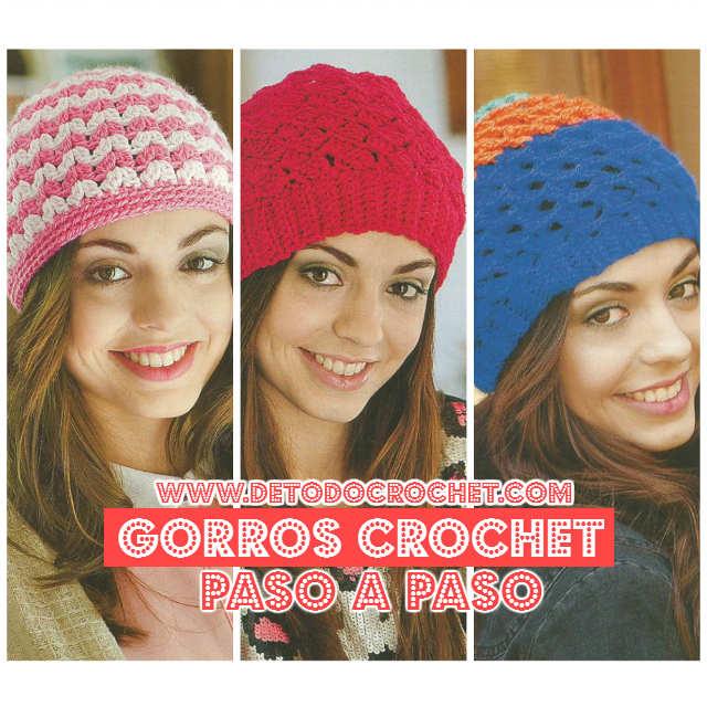 4952b7e41253c Gorros de Mujer para Tejer al Crochet   Explicaciones en Español