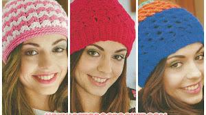 Gorros de Mujer para Tejer al Crochet / Explicaciones en Español