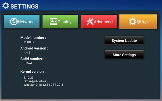 MXIII-G Smart TV Box - First impressions, firmware details