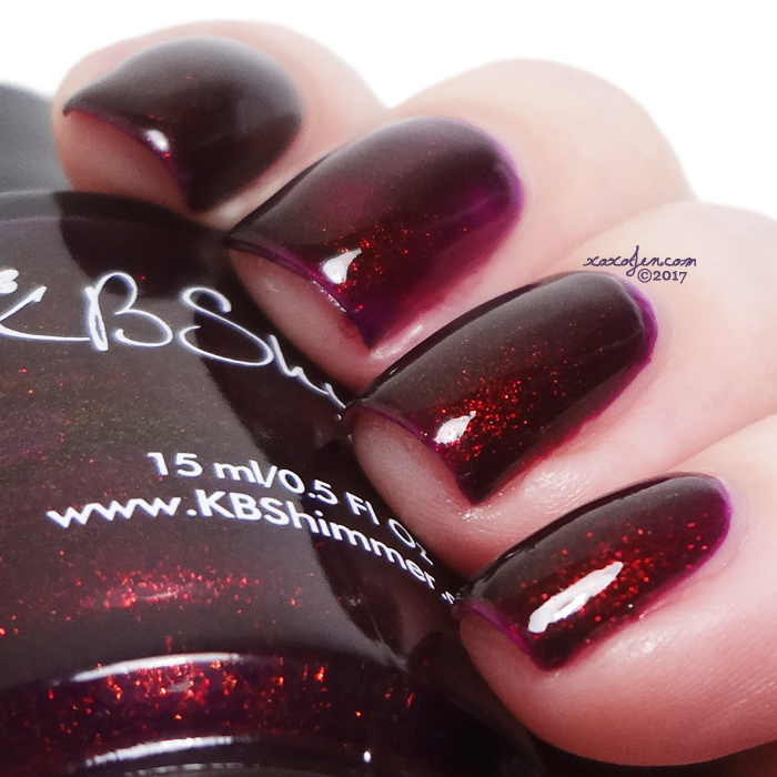 xoxoJen's swatch of KBShimmer So Jelly