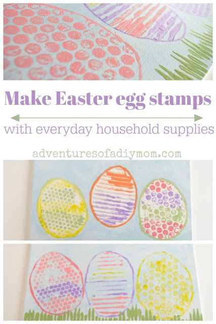 Make Easter egg stamps with everyday household supplies